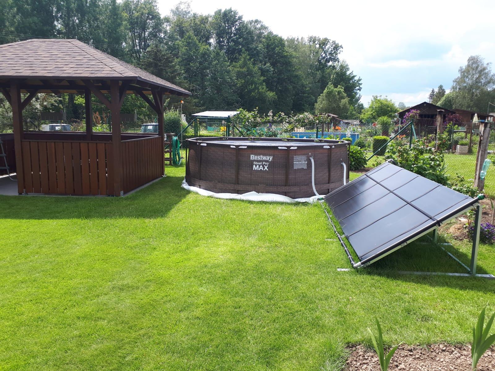 Řízení filtrace a ohřevu bazénu ústřednou ESIM384